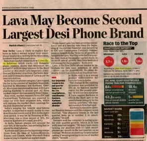 Lava may become second largest local smartphone brand